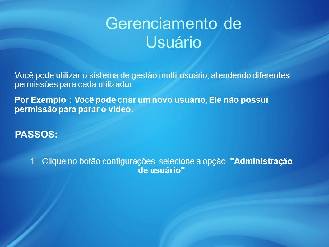 Gerenciamento de Usuário PASSOS: