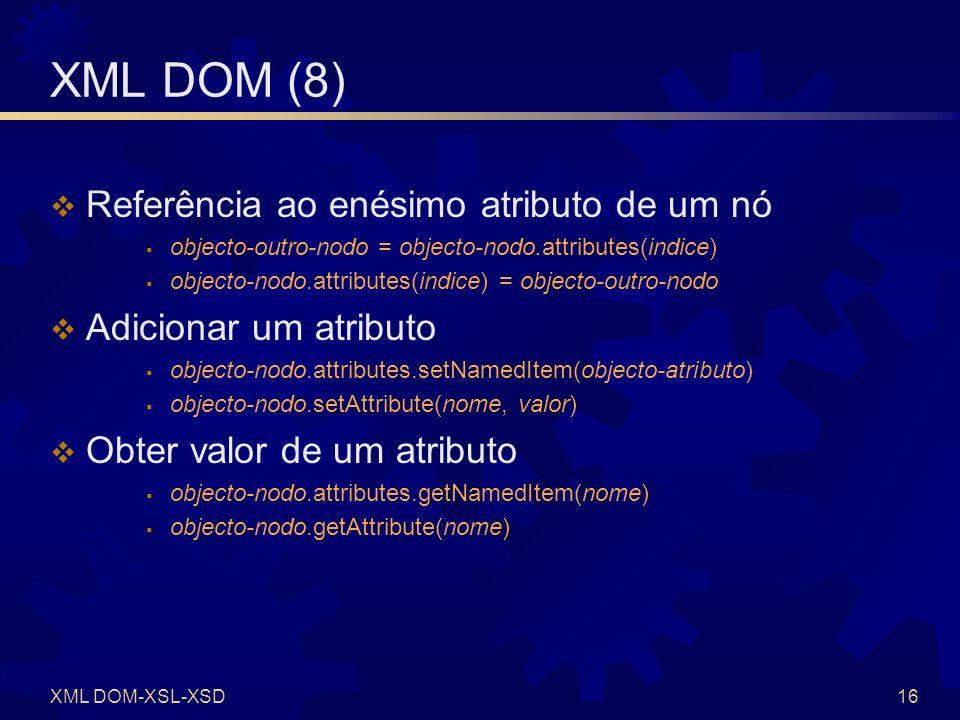 XML DOM (9) Exercício.