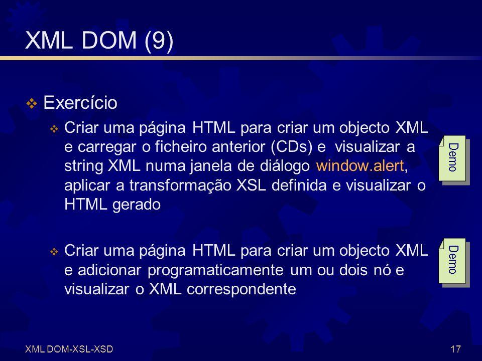 XSD XML DOM-XSL-XSD