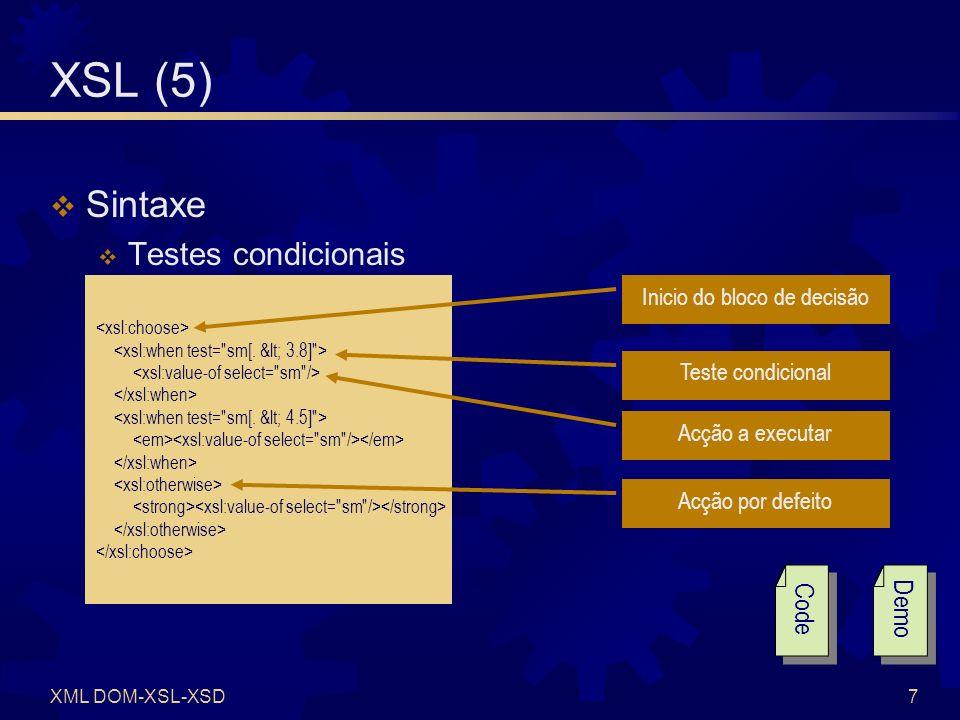 XSL (6) Exercícios Solução