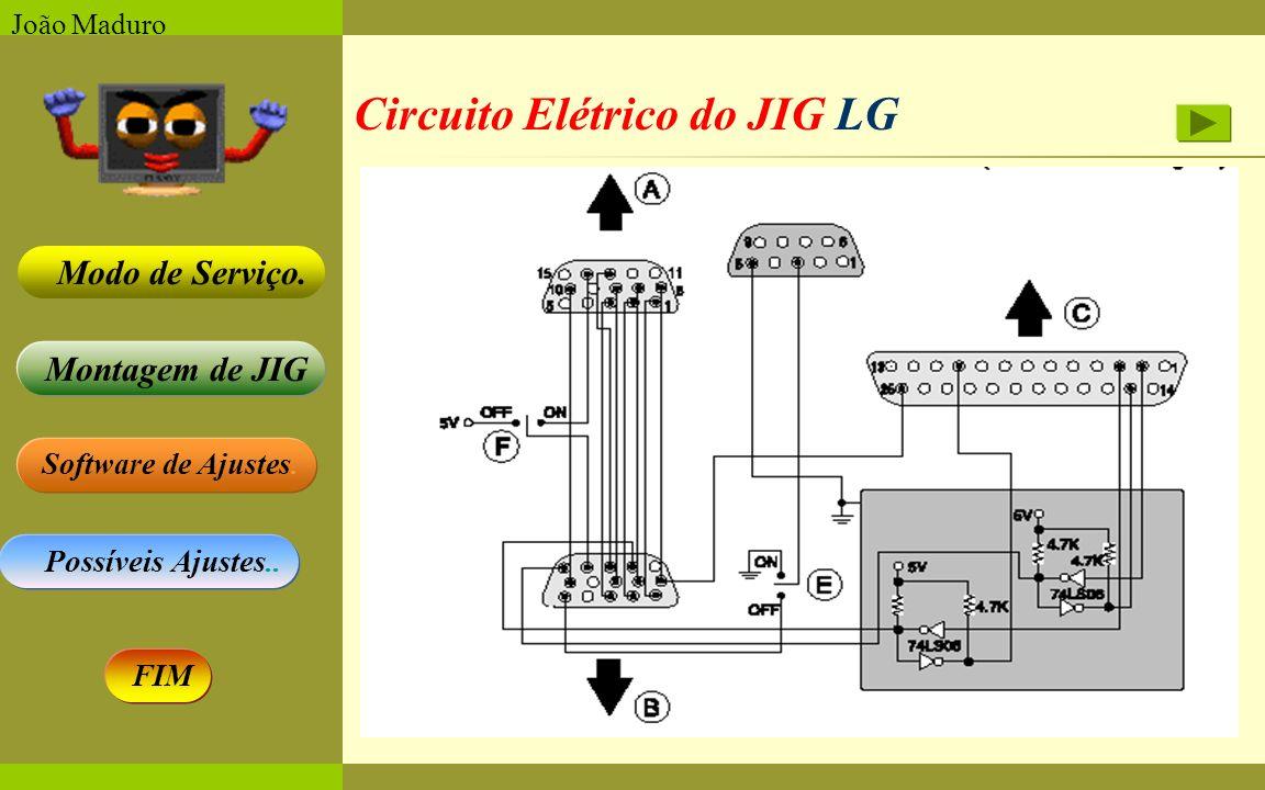 Circuito Elétrico do JIG LG