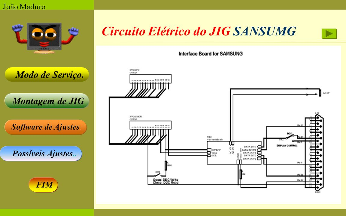 Circuito Elétrico do JIG SANSUMG