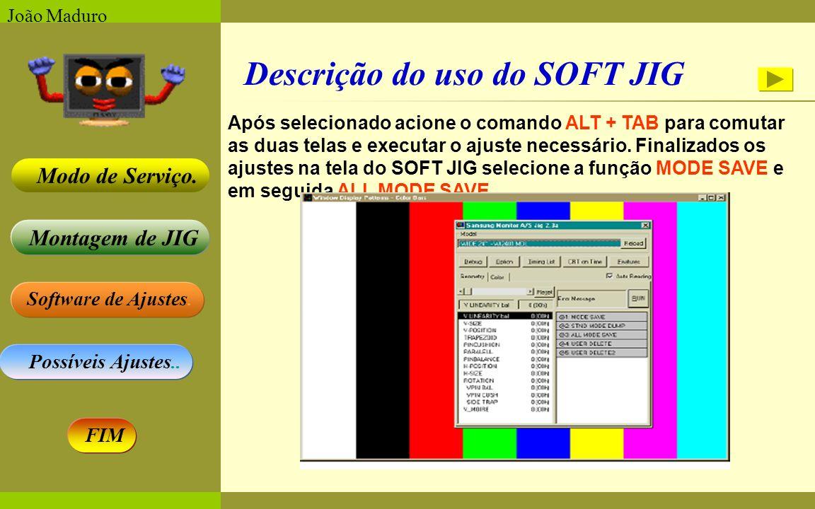 Descrição do uso do SOFT JIG