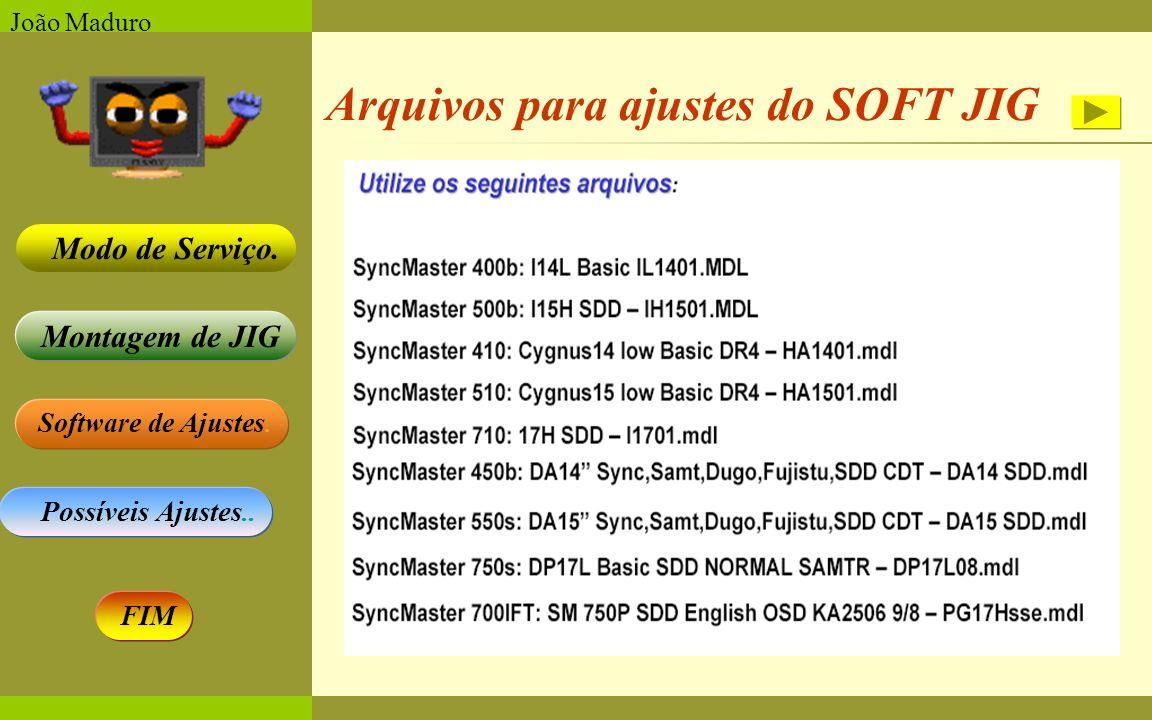 Arquivos para ajustes do SOFT JIG