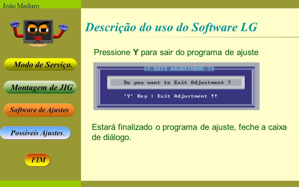 Descrição do uso do Software LG