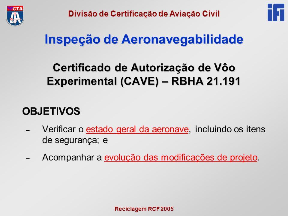 Certificado de Autorização de Vôo Experimental (CAVE) – RBHA 21.191
