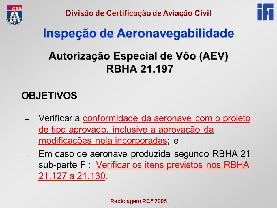 Autorização Especial de Vôo (AEV) RBHA 21.197