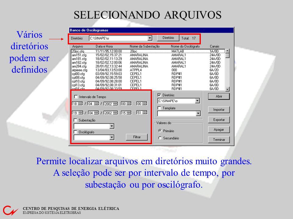 SELECIONANDO ARQUIVOS