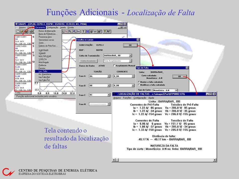 Funções Adicionais - Localização de Falta