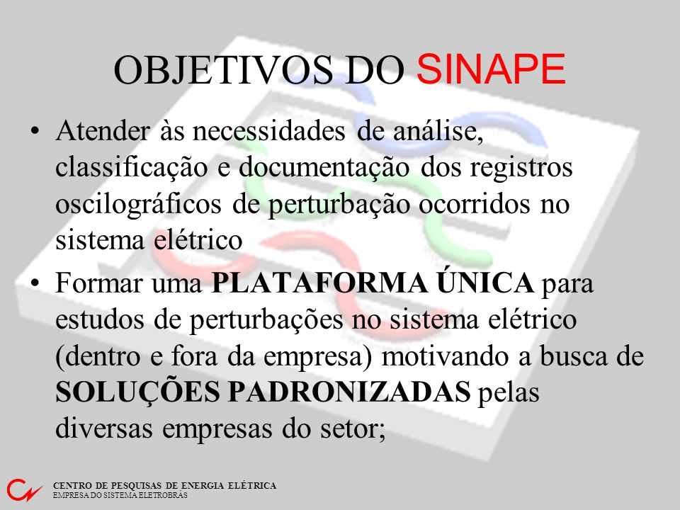 OBJETIVOS DO SINAPE