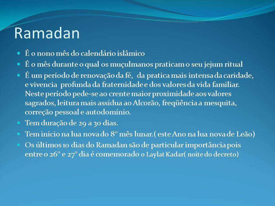 Ramadan É o nono mês do calendário islâmico