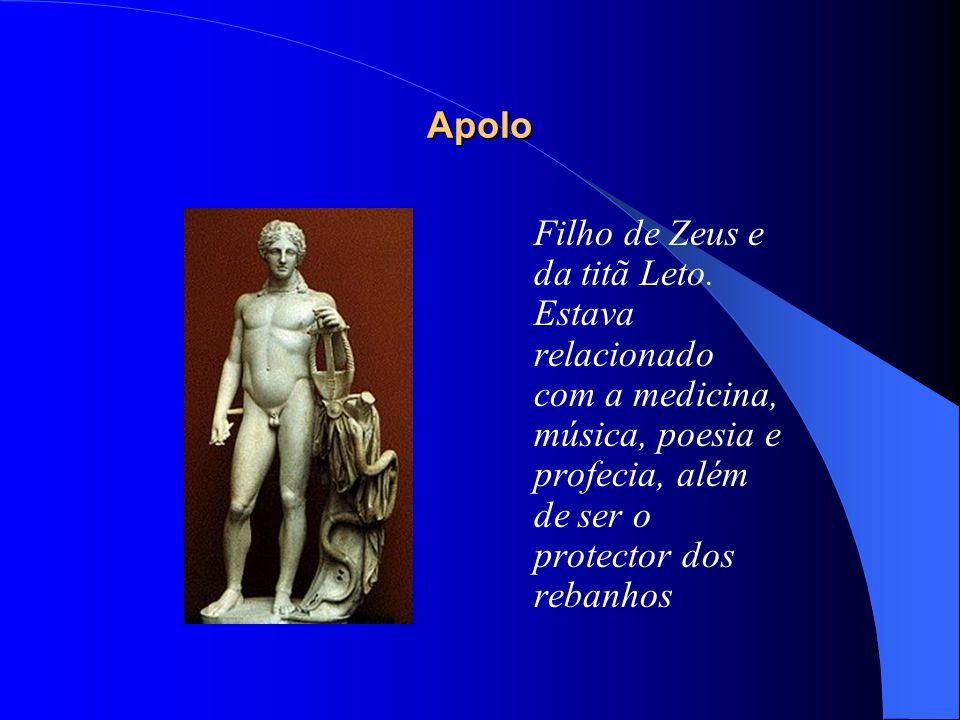 Apolo Filho de Zeus e da titã Leto.