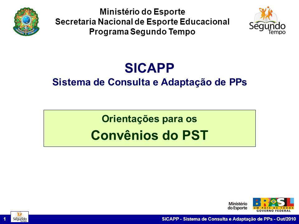 SICAPP Convênios do PST