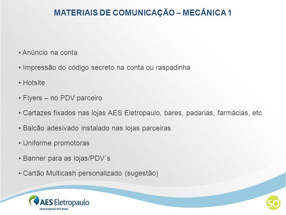 MATERIAIS DE COMUNICAÇÃO – MECÂNICA 1
