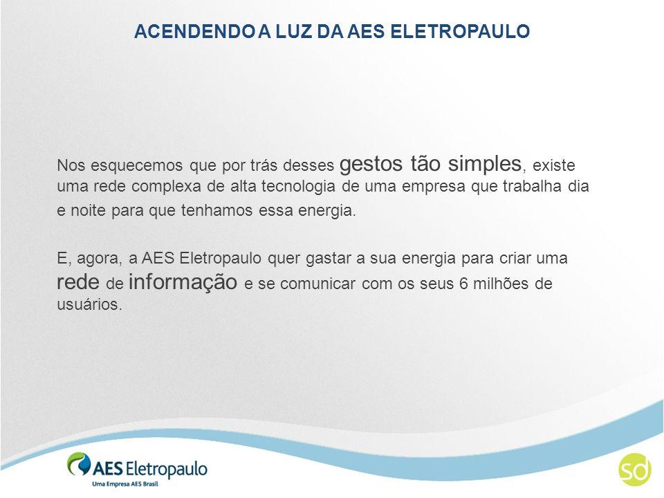 ACENDENDO A LUZ DA AES ELETROPAULO