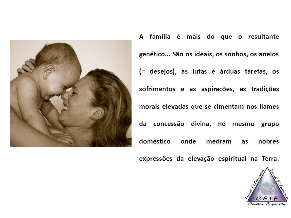 A família é mais do que o resultante genético