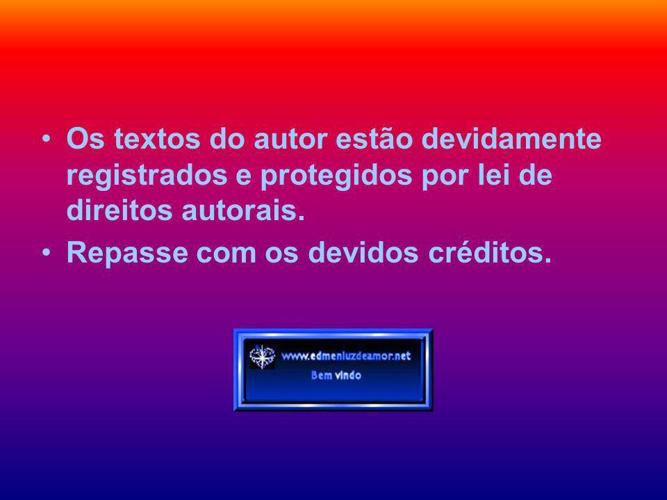 Os textos do autor estão devidamente registrados e protegidos por lei de direitos autorais.