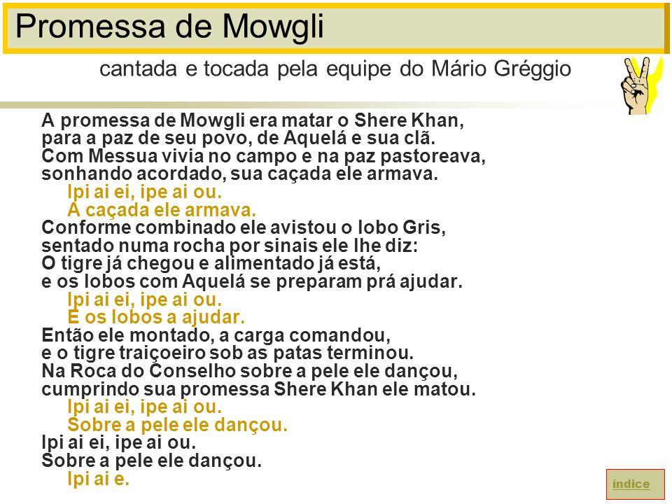 Promessa de Mowgli cantada e tocada pela equipe do Mário Gréggio