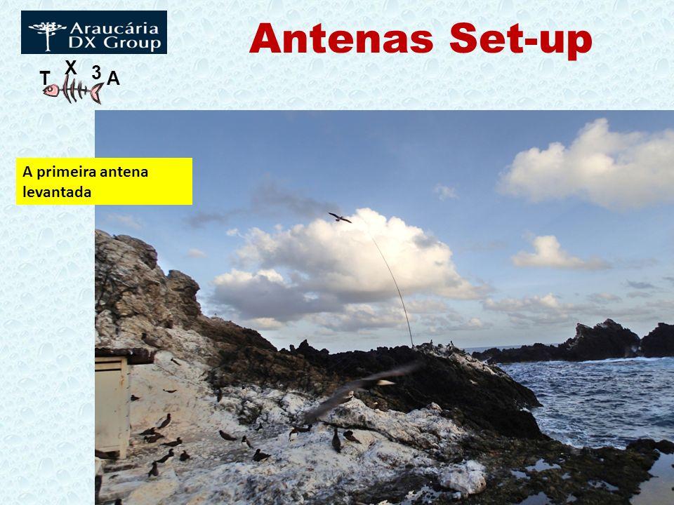 Antenas Set-up A primeira antena levantada