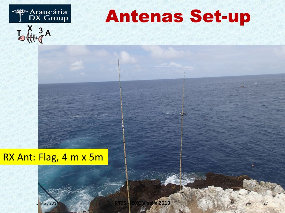 Antenas Set-up RX Ant: Flag, 4 m x 5m PT0S - IDXC Visalia 2013