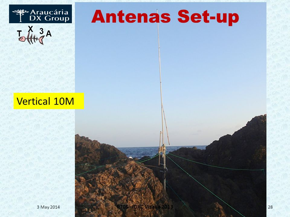 Antenas Set-up Vertical 10M 30 March 2017 PT0S - IDXC Visalia 2013