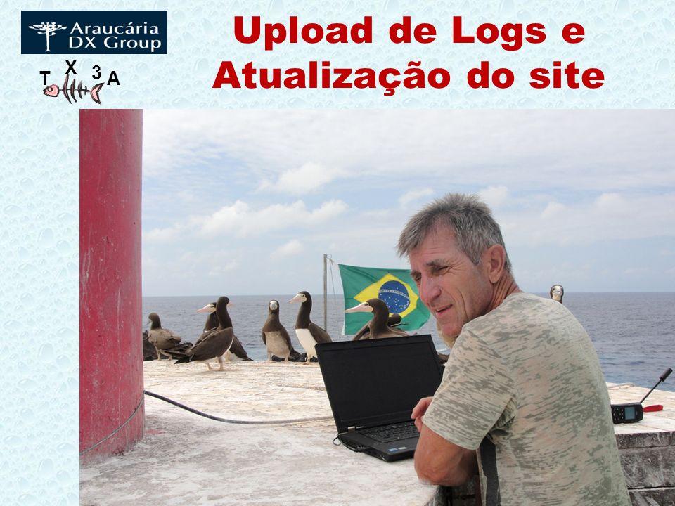 Upload de Logs e Atualização do site