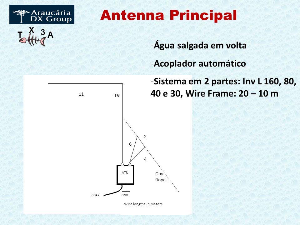 Antenna Principal Água salgada em volta Acoplador automático