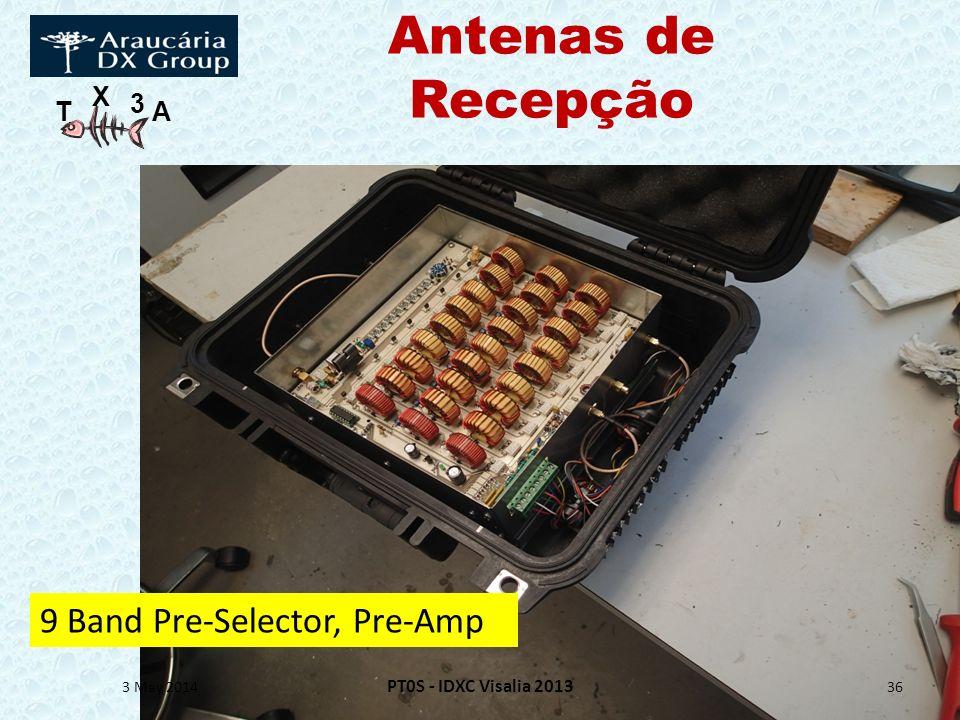 Antenas de Recepção 9 Band Pre-Selector, Pre-Amp