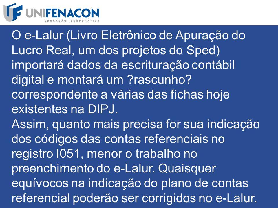 O e-Lalur (Livro Eletrônico de Apuração do Lucro Real, um dos projetos do Sped) importará dados da escrituração contábil digital e montará um rascunho.