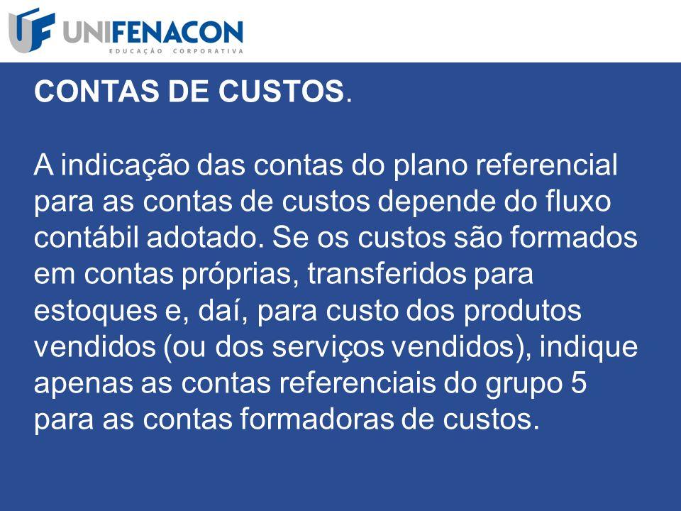 CONTAS DE CUSTOS.