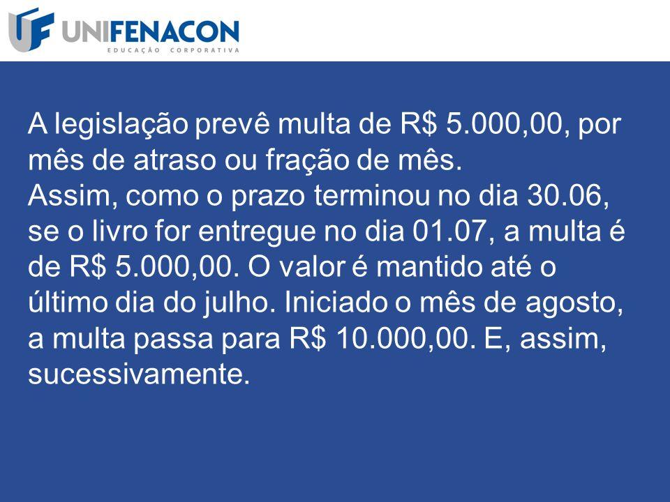 A legislação prevê multa de R$ 5