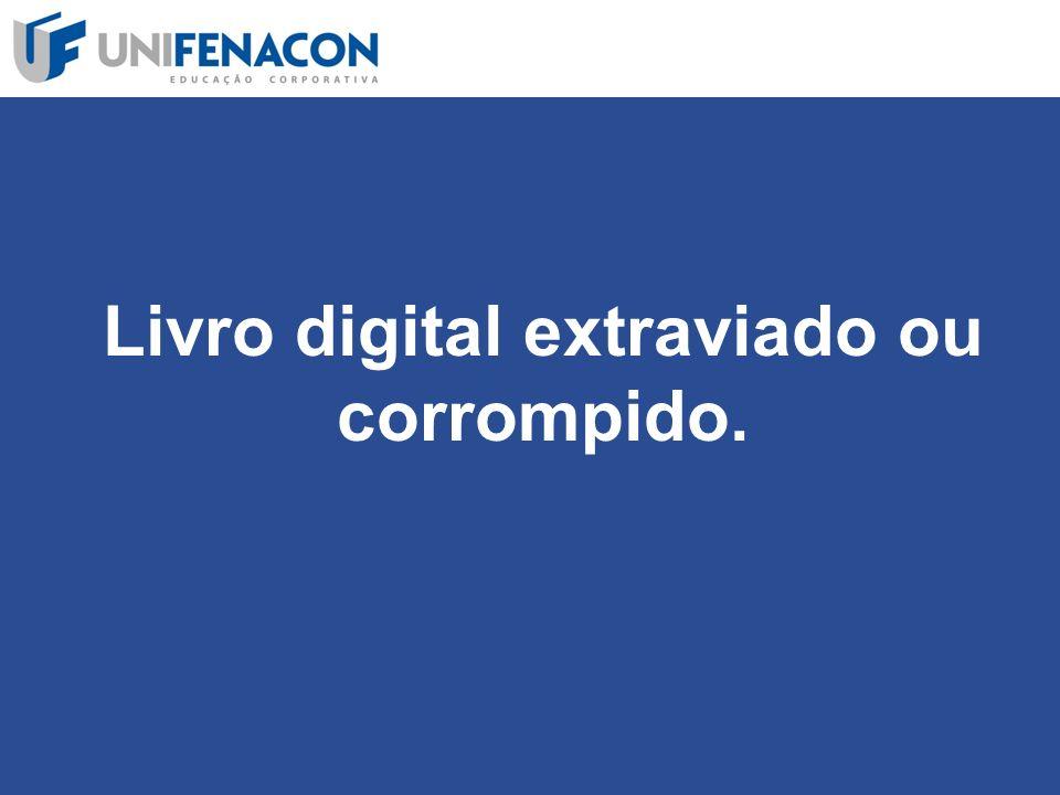 Livro digital extraviado ou corrompido.