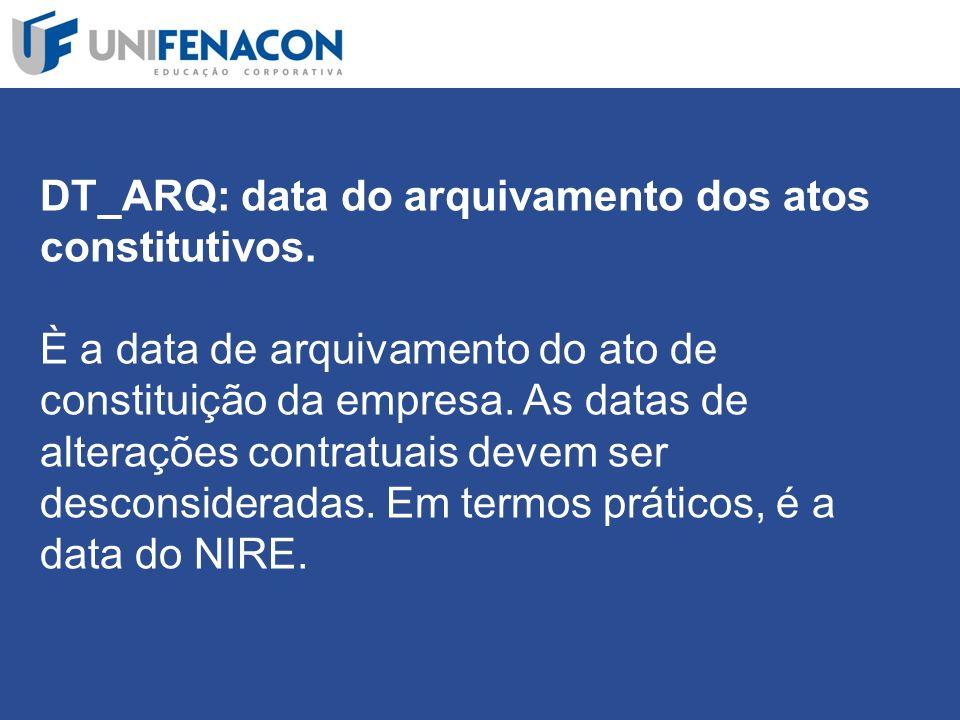 DT_ARQ: data do arquivamento dos atos constitutivos