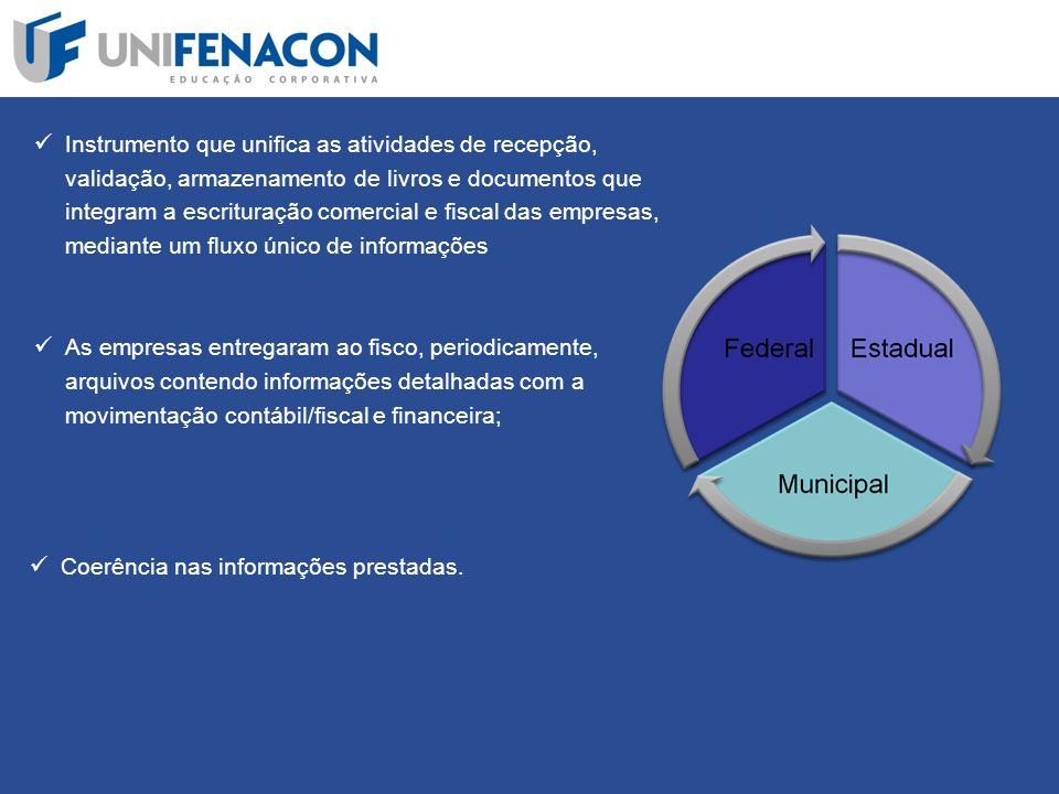 Instrumento que unifica as atividades de recepção, validação, armazenamento de livros e documentos que integram a escrituração comercial e fiscal das empresas, mediante um fluxo único de informações