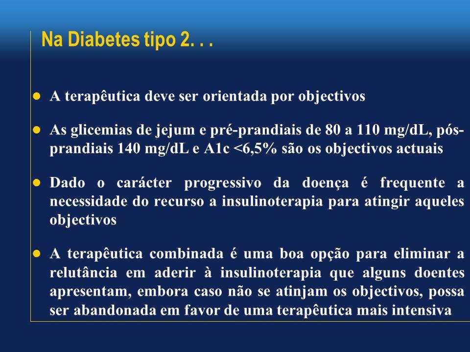 Na Diabetes tipo 2. . . A terapêutica deve ser orientada por objectivos.
