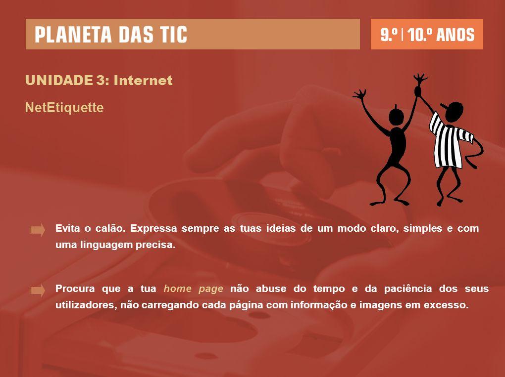 UNIDADE 3: Internet NetEtiquette