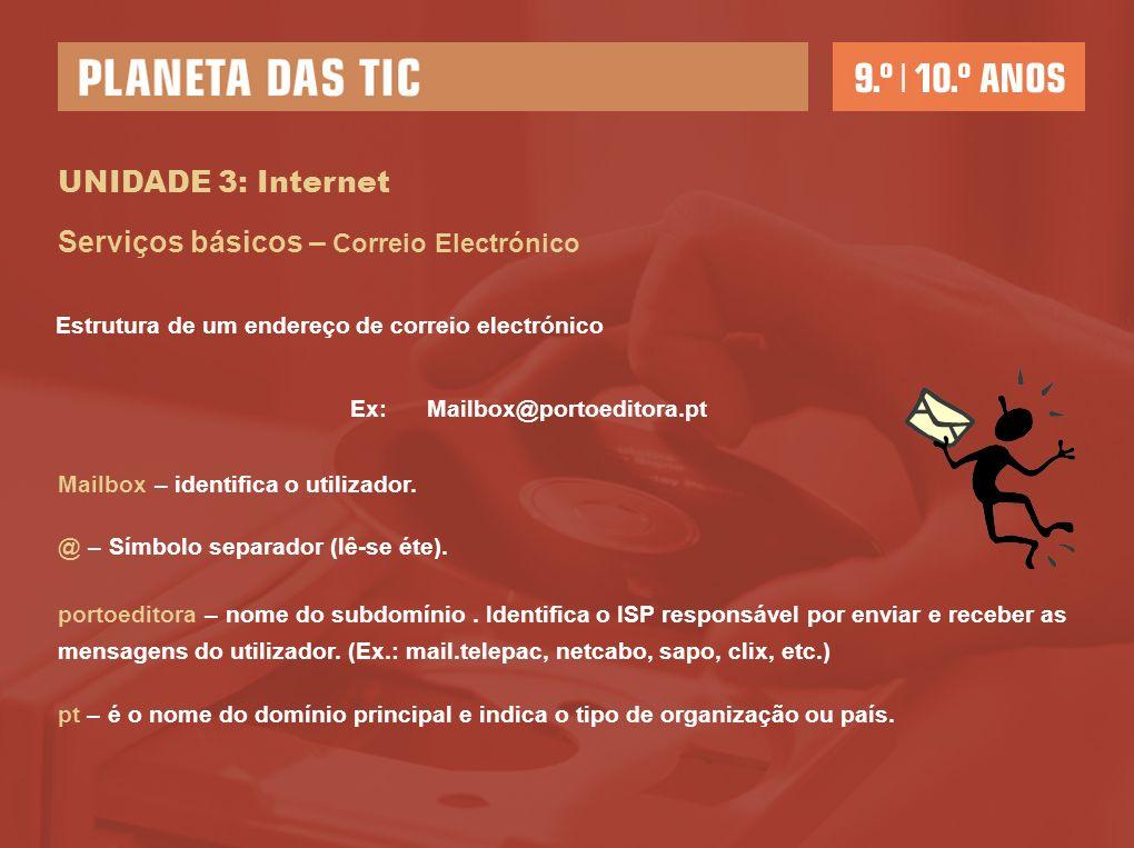 Ex: Mailbox@portoeditora.pt