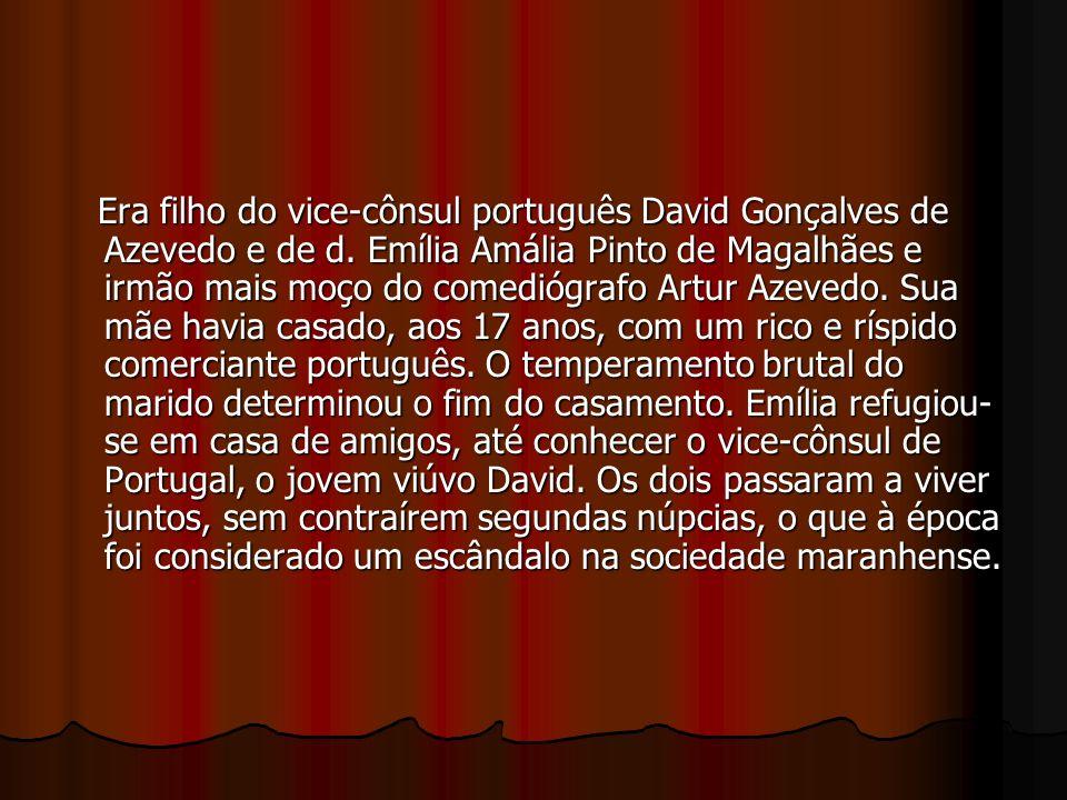 Era filho do vice-cônsul português David Gonçalves de Azevedo e de d