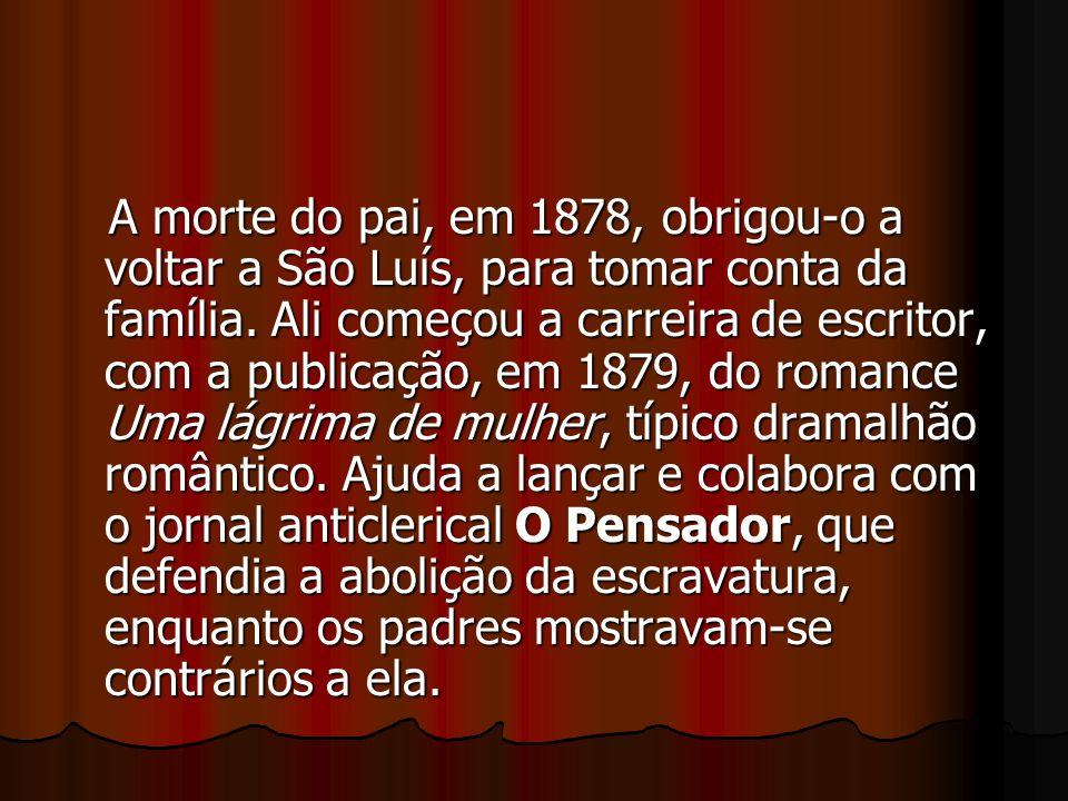 A morte do pai, em 1878, obrigou-o a voltar a São Luís, para tomar conta da família.