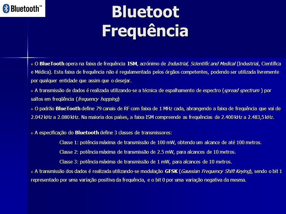 Bluetoot Frequência