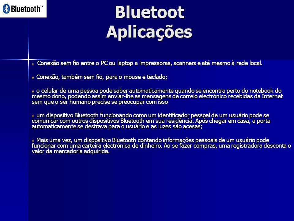 Bluetoot Aplicações Conexão, também sem fio, para o mouse e teclado;