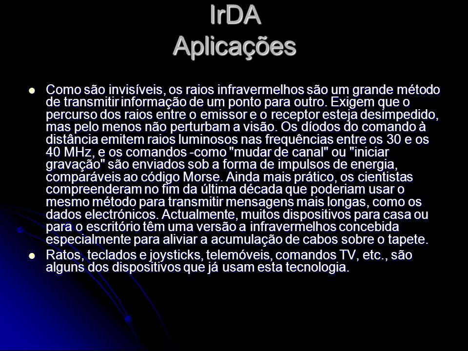 IrDA Aplicações