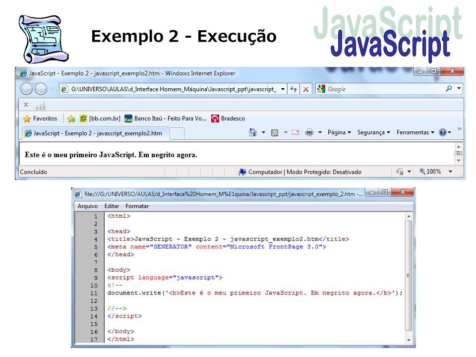 Exemplo 2 - Execução JavaScript