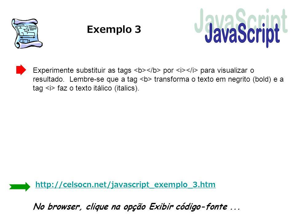 Exemplo 3 JavaScript.