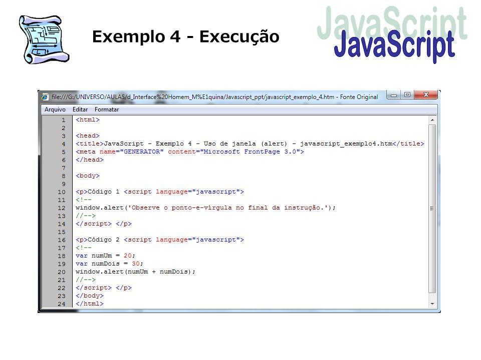 Exemplo 4 - Execução JavaScript