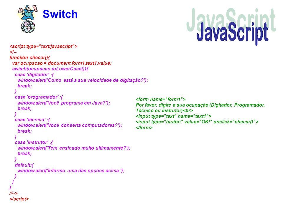 Switch JavaScript.