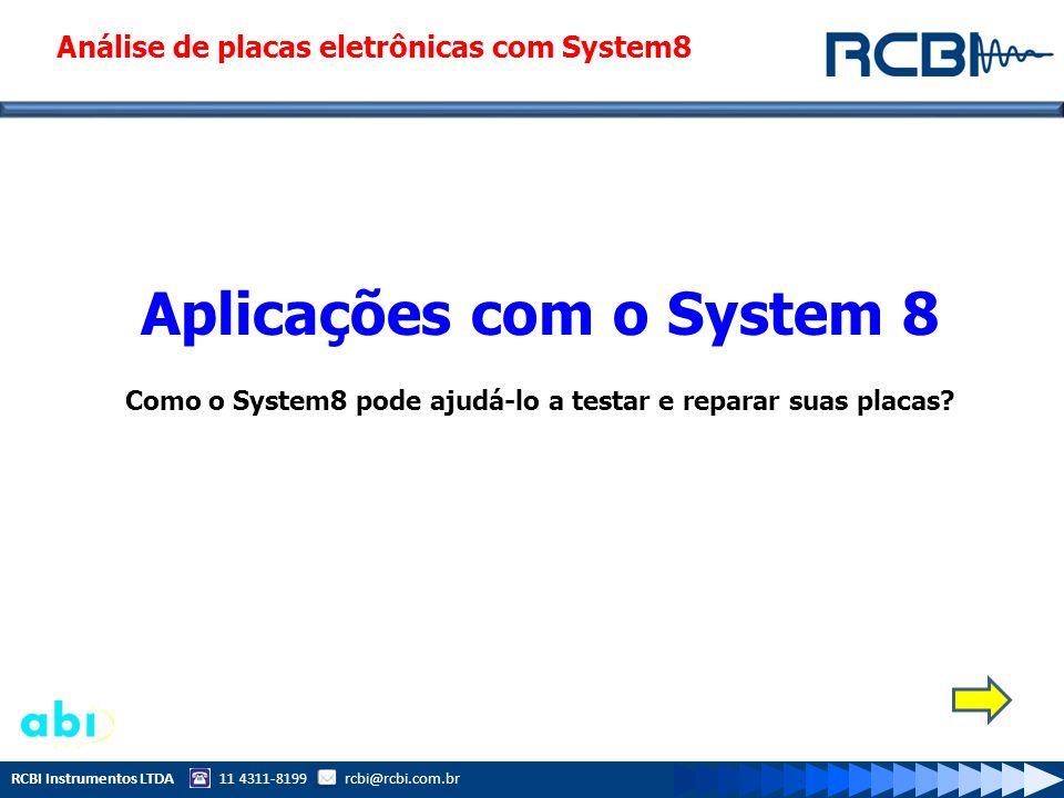 Análise de placas eletrônicas com System8