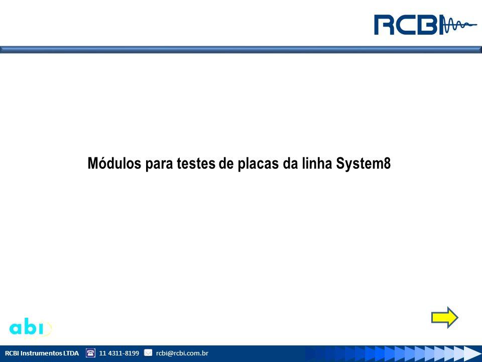 Módulos para testes de placas da linha System8