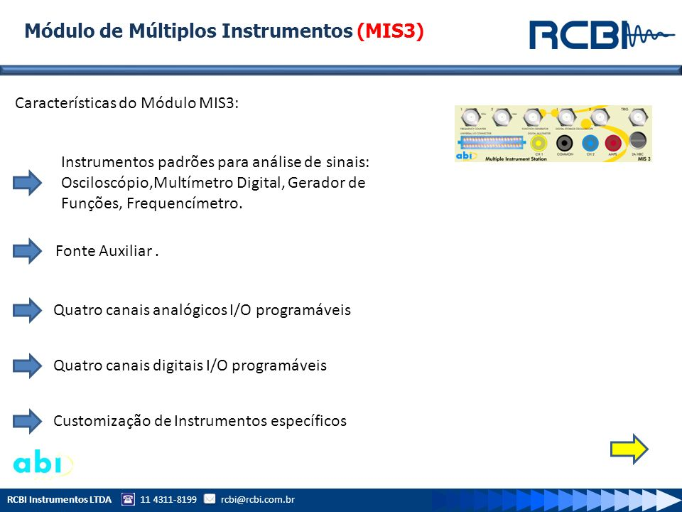 Módulo de Múltiplos Instrumentos (MIS3)