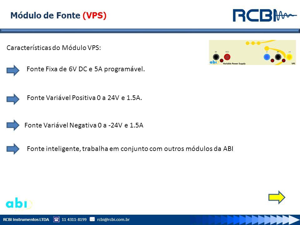 Módulo de Fonte (VPS) Características do Módulo VPS: